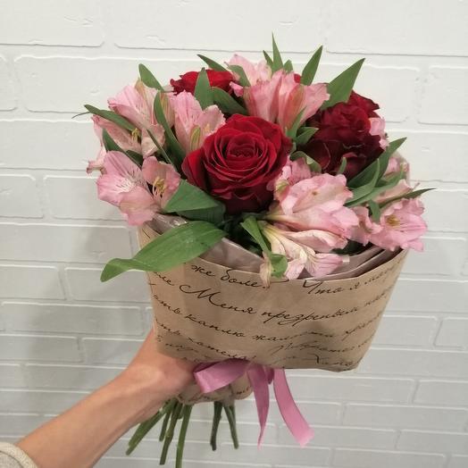 Букет в крафте: букеты цветов на заказ Flowwow
