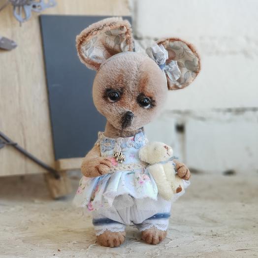 Авторская игрушка Мышь Анфиса (тедди)