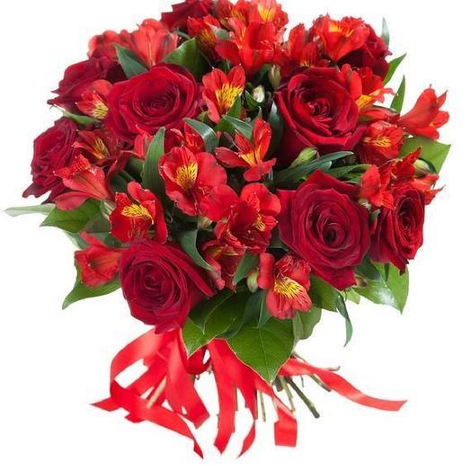 """Бует""""Пламя"""": букеты цветов на заказ Flowwow"""