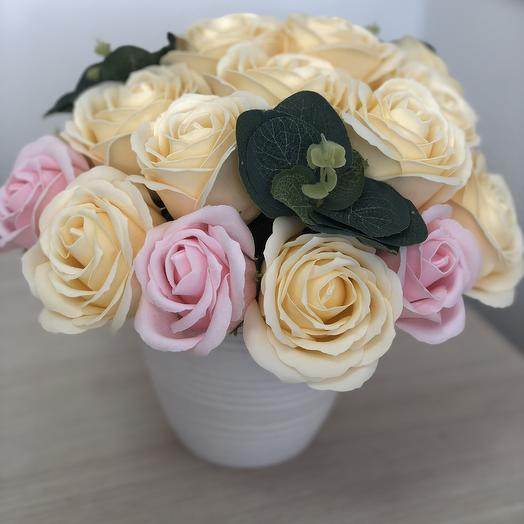 Букет 6 из мыльных цветов: букеты цветов на заказ Flowwow