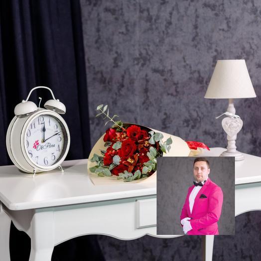Насыщенно красный букет: букеты цветов на заказ Flowwow