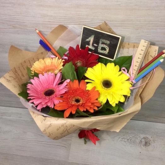 Букет на 1 Сентября 5: букеты цветов на заказ Flowwow