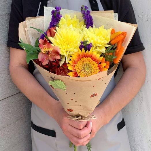 Осенний букет-комплимент: букеты цветов на заказ Flowwow
