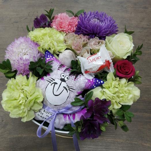 Котик ты мой наркотик: букеты цветов на заказ Flowwow