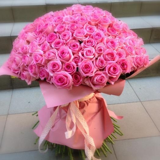 Букет «201 розовая роза»: букеты цветов на заказ Flowwow