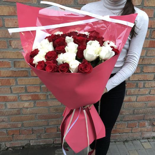 Букет из 45 голландских роз