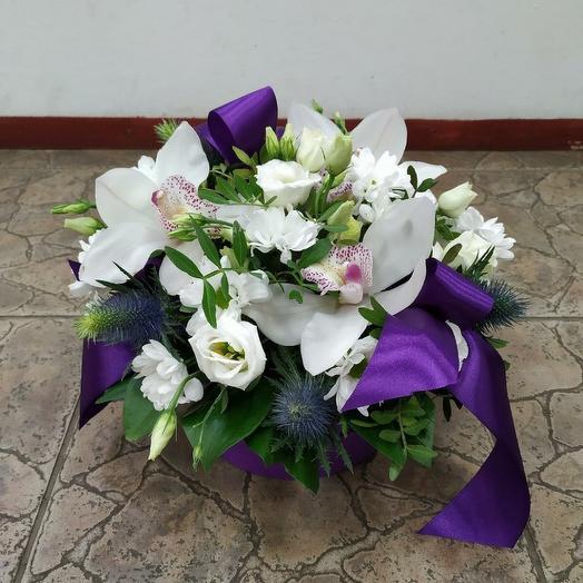 """Композиция с орхидеей """"Ласковый поцелуй"""": букеты цветов на заказ Flowwow"""