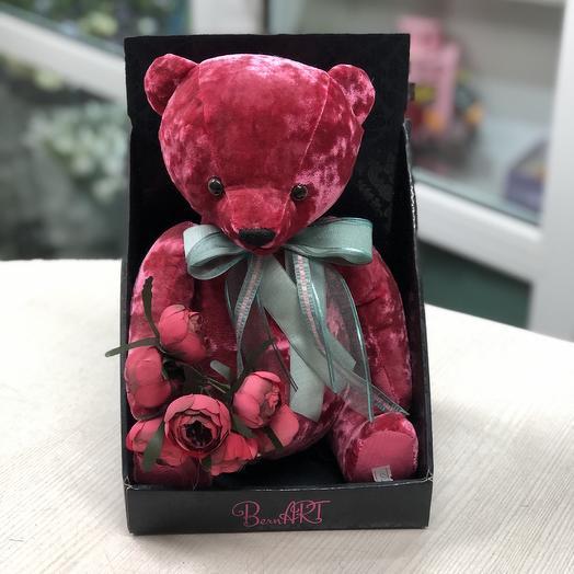 Бархатный мишка: букеты цветов на заказ Flowwow