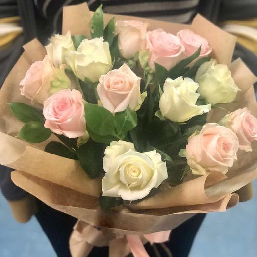 Нежная розочка: букеты цветов на заказ Flowwow