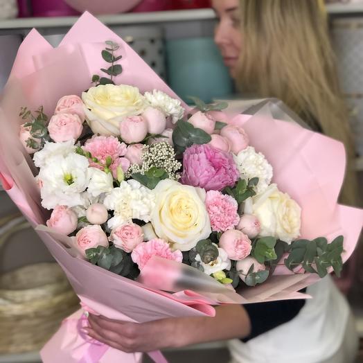 Букет нежности с пионовидными розами: букеты цветов на заказ Flowwow