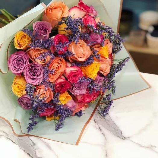 Яркое ассорти: букеты цветов на заказ Flowwow
