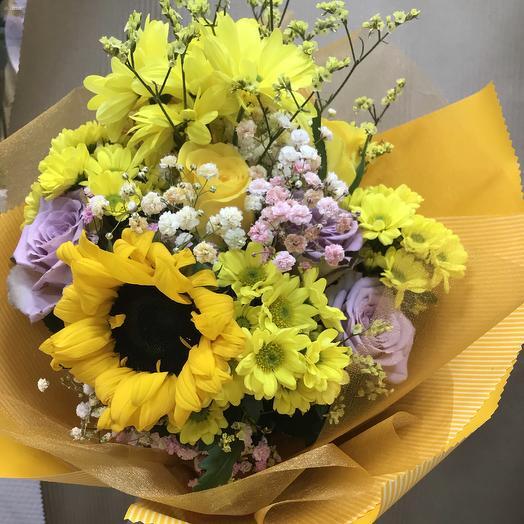 Букет «солнечный каскад»: букеты цветов на заказ Flowwow