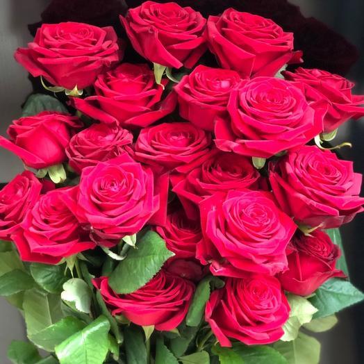 Красные Розы 70см Шикарный