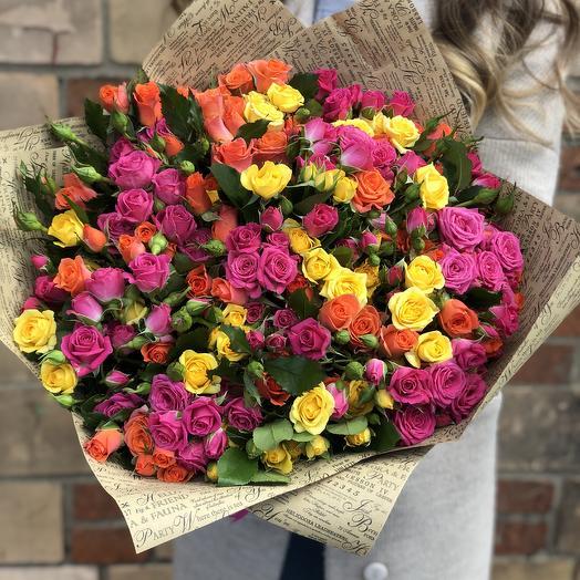Яркое удовольствие: букеты цветов на заказ Flowwow