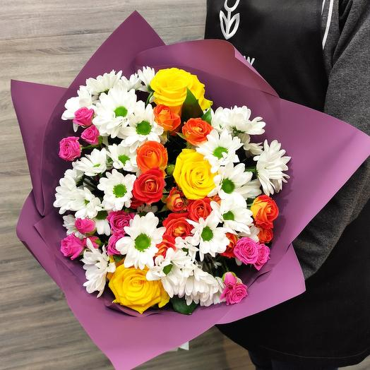 Автор Author's bouquet of fresh flowers