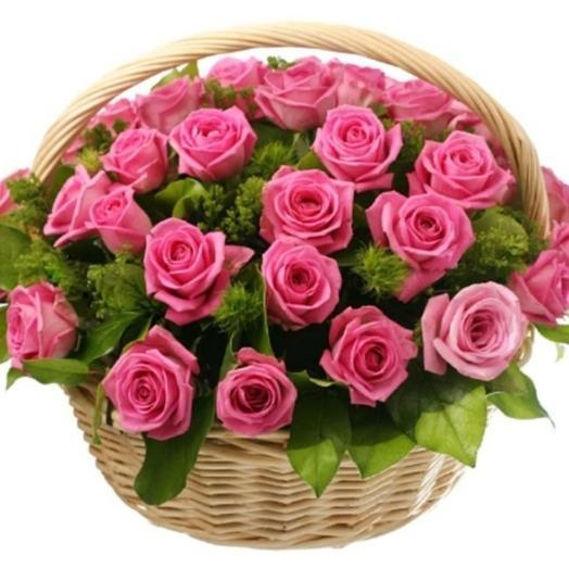 Корзина с розовой розой
