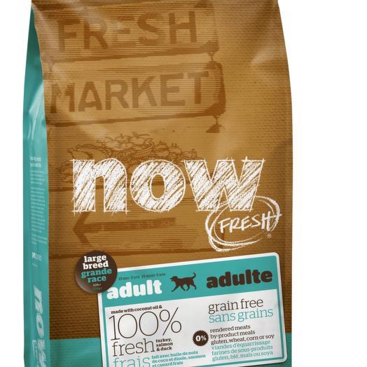 NOW FRESH беззерновой сухой корм для собак крупных пород с индейкой, уткой и овощами 11,3 кг