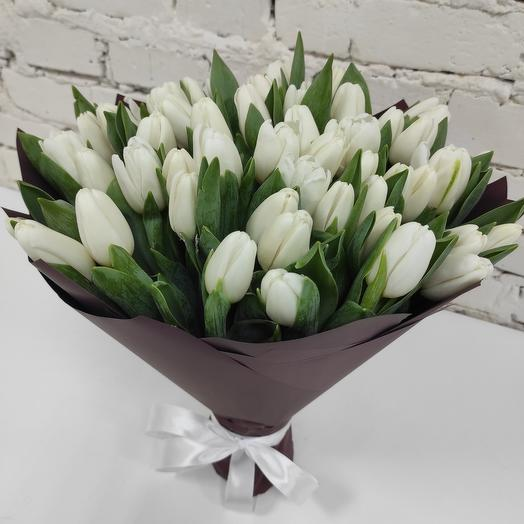 "Bouquet of White tulips ""ARCTIC"" Hit"
