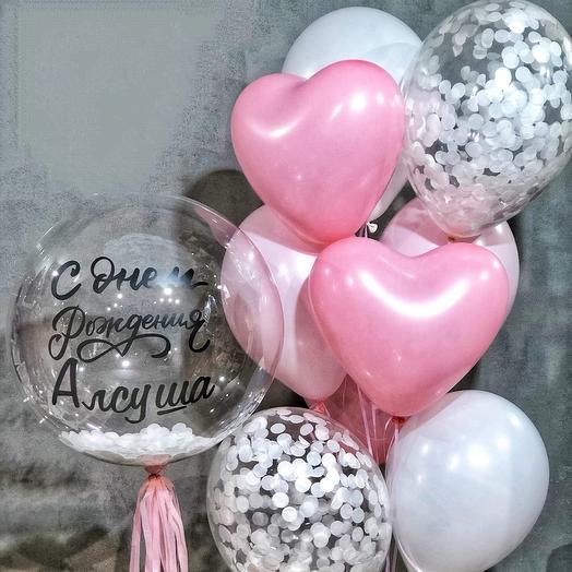 Набор шаров Розовое счастье