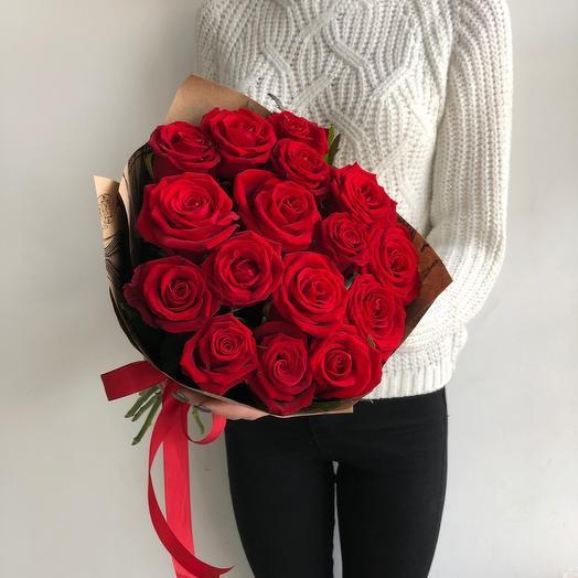 "Lady Flowers-bouquet "" Scarlet velvet»"