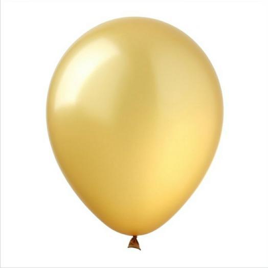 Золотой шарик гелий
