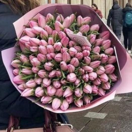 Букет тюльпан 101