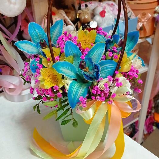Сумочка с космическими орхидеями