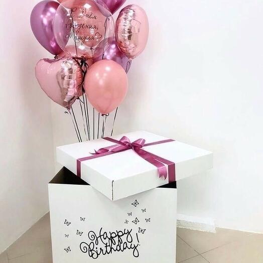 Шары в коробке на День Рождения 7