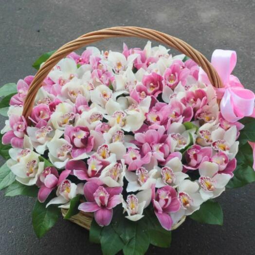 Орхидеии в корзине МАХ