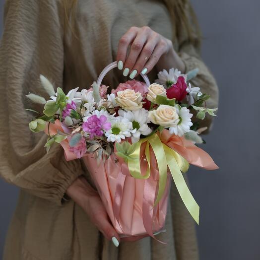Сумочка с цветами  «Camomile»
