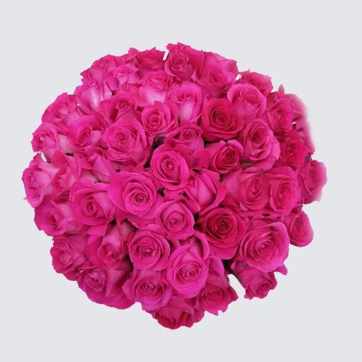 Букет из 25 эквадорских роз pink floyd 70 см