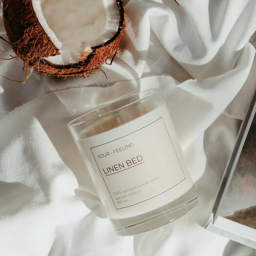 ароматическая свеча LINEN BED