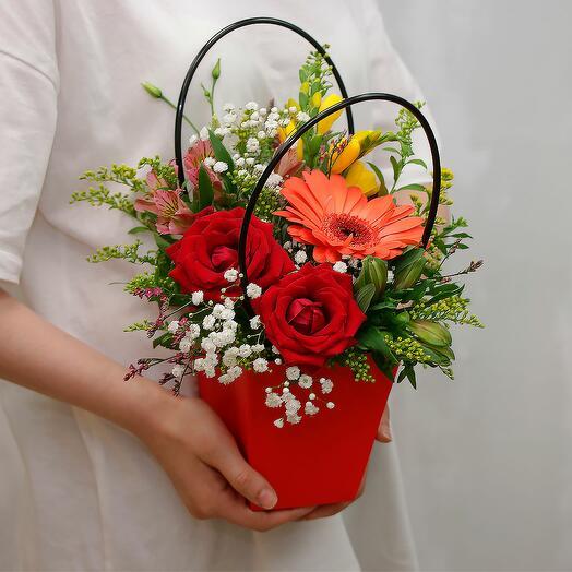 Цветы в кашпо Благодарность