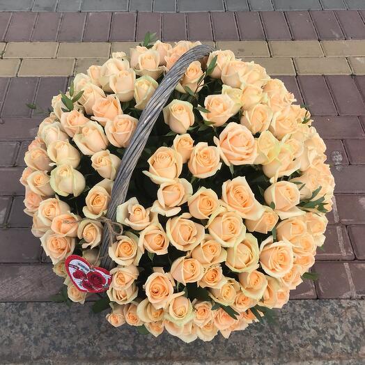 Корзина 201 персиковая Роза