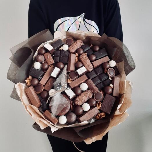 Bouquet of sweets and chocolate