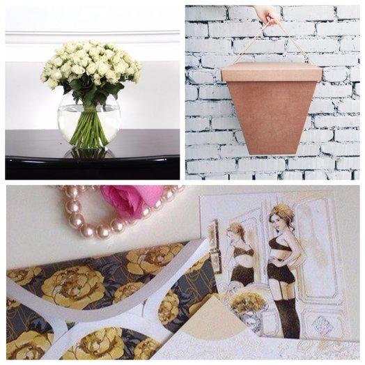 Букет из кустовыз белых роз в вазе Нежность: букеты цветов на заказ Flowwow