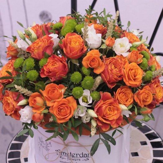 Букет в коробке  Весенний Амстердам: букеты цветов на заказ Flowwow