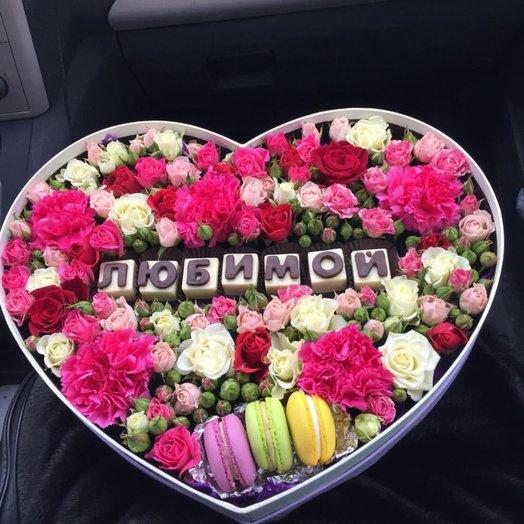 Коробочка Любимой: букеты цветов на заказ Flowwow