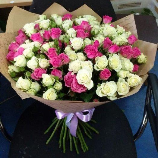 Букет из кустовых роз 29шт: букеты цветов на заказ Flowwow