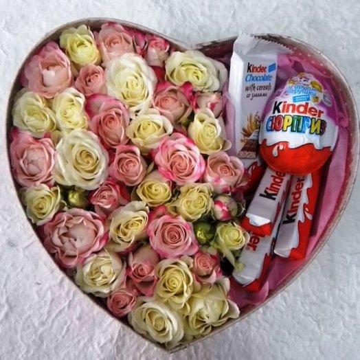 Сердце-комплимент для любимых: букеты цветов на заказ Flowwow