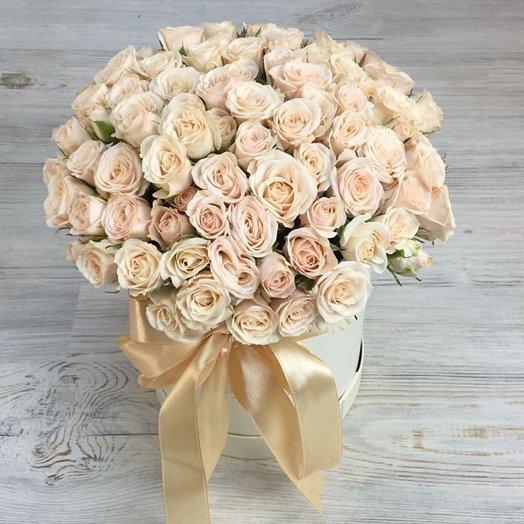Коробки с цветами. Кустовые розы. N38