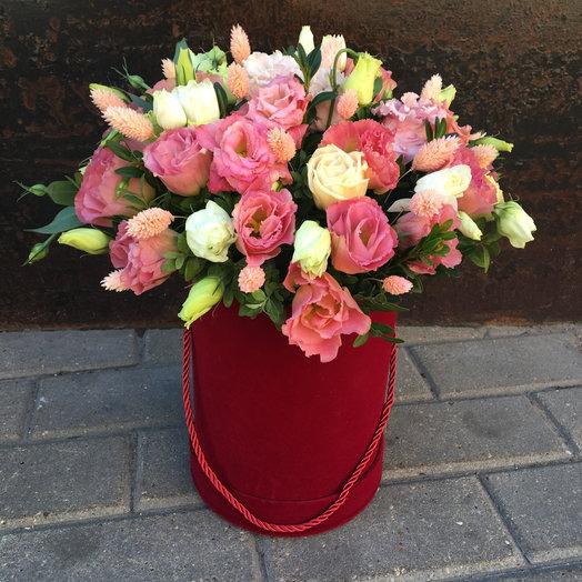 Лизиантус роуз в бархате L: букеты цветов на заказ Flowwow