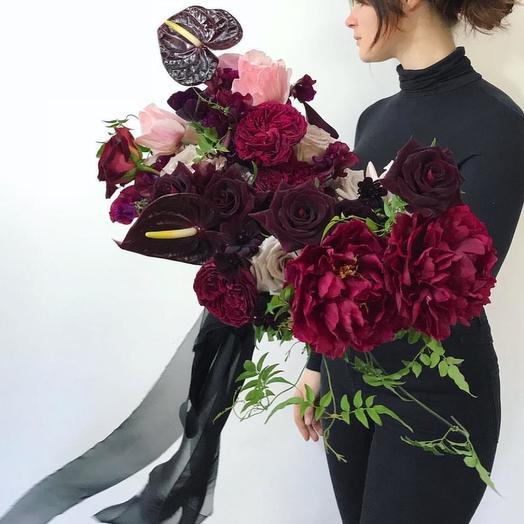 Винный: букеты цветов на заказ Flowwow