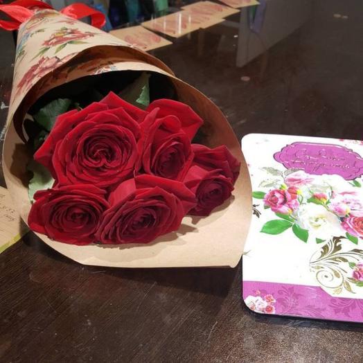 5 роз: букеты цветов на заказ Flowwow