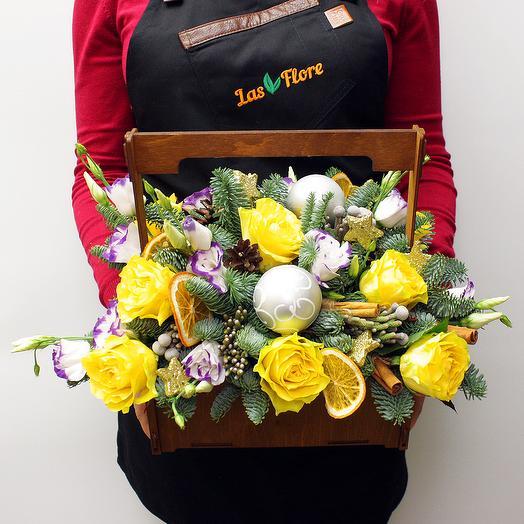 """""""Новогодние чудеса"""": букеты цветов на заказ Flowwow"""