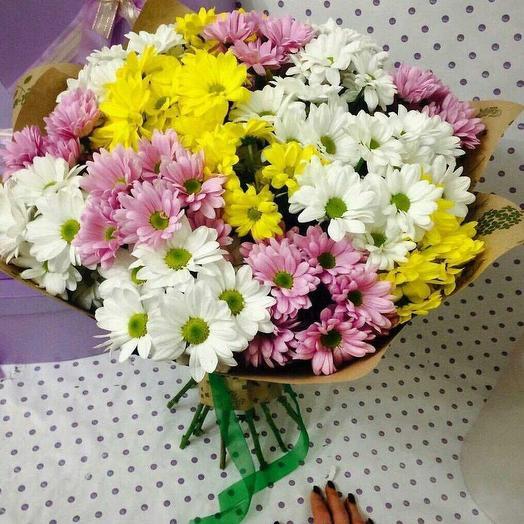 Букет из 15 кустовых хризантем: букеты цветов на заказ Flowwow