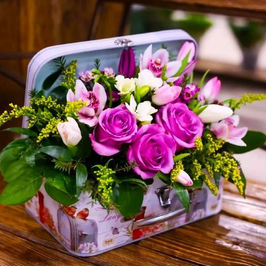 Сундучок с розами