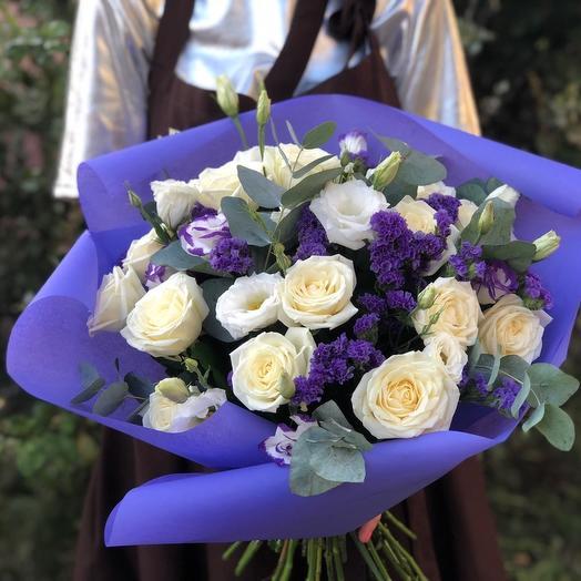 """Большой букет цветов """"Сиреневый туман"""""""