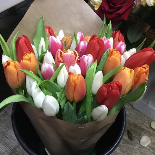 Разноцветное внимание: букеты цветов на заказ Flowwow