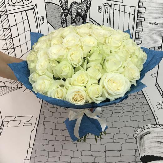 51 роза Аваланж: букеты цветов на заказ Flowwow
